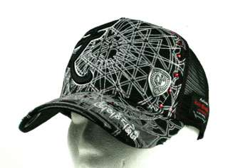 Red Monkey CURRENCY SYMBOL black or white Trucker Cap hat Crystals