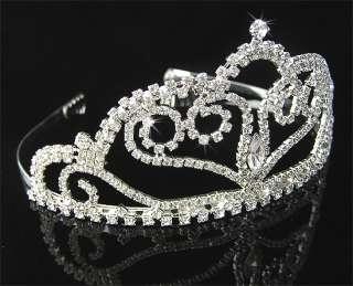 Wedding/Bridal crystal veil tiara crown headband CR151