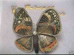 Beautiful Princess Butterfly Brooch Pin West Germany