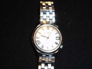 VINTAGE BULOVA ACCUTRON STAINLESS SS WATCH W/ JB CHAMPION BRACELET