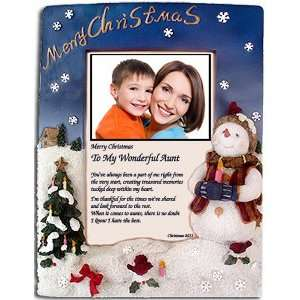 Christmas Gift for Aunt   Our Poem and Snowman Frame   You