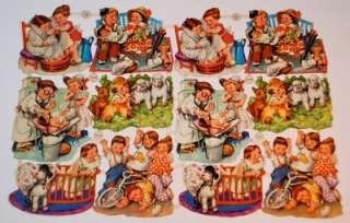 VINTAGE GERMAN PZB LITTLE CHILDREN PAPER DOLLS