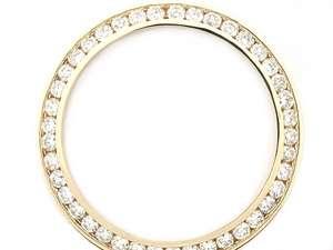 MENS 3CT CHANNEL SET DIAMOND BEZEL FOR ROLEX 14KY WATCH  