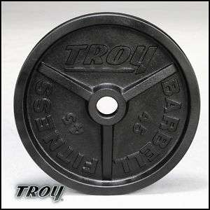 troy barbell 100 lb olympic weights machined NEW