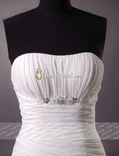 Stock Beach Chiffon Wedding Dress Bridal Gown New Size HOT ◆