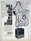 FRAMED 1973 LESLIE SPEAKER MODEL 825 750 PROMO AD.RARE