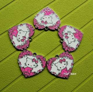 Cute Charmmy Kitty 5 pcs Metal Charms Pendants A