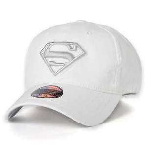 Baseball Cap Superman Flexfit/ Cotton Hat/ White AC112
