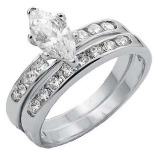 wedding set including a wedding ring and a band features a stunning 1