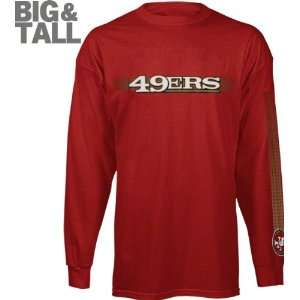 San Francisco 49ers Big & Tall Long Sleeve Solid Jersey T