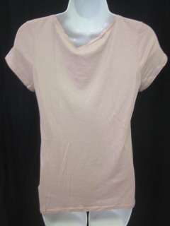 JUICY COUTURE Pink Short Sleeve Ruffle Shirt Blouse SzS