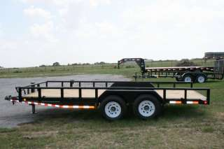 New 18 BumperPull Equipment Lowboy Trailer w/7K Axles
