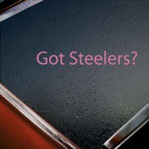 Got Steelers? Pink Decal Pittsburgh Truck Window Pink