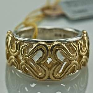 SLANE & SLANE 18K SOLID GOLD & STERLING SILVER SIGNATURE DOMED RING