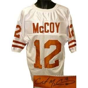 Colt McCoy signed Texas Longhorns White Custom Jersey  McCoy Hologram