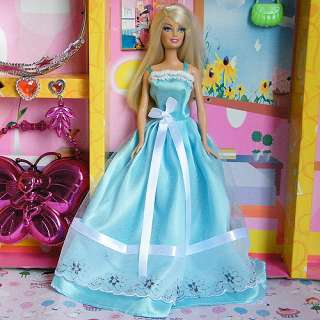 New Fashion Handmade Princess Clothes Dress Gown for Barbie doll 019xa