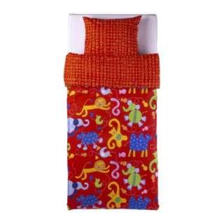 New IKEA BARNSLIG DJUR Duvet cover and pillowcase (Red)