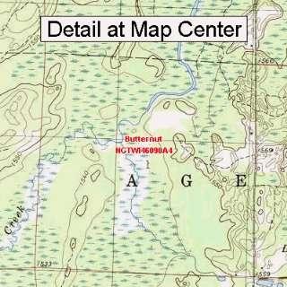 USGS Topographic Quadrangle Map   Butternut, Wisconsin