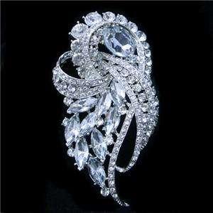 Bridal Flower Brooch Pendant Pin Swarovski Crystal