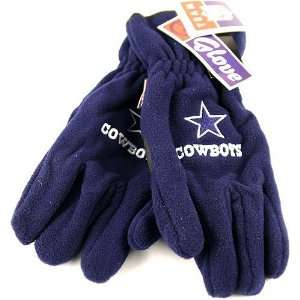 Thinsulate Navy Blue Embroidered Fleece Gloves