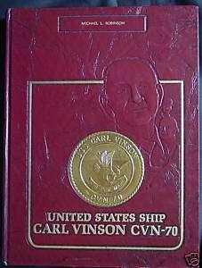 USS CARL VINSON CVN 70 WESTPAC 1990 USN CRUISE BOOK