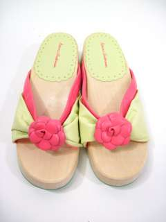NEW HANNA ANDERSON Girls Pink Wooden Platforms Shoes 31
