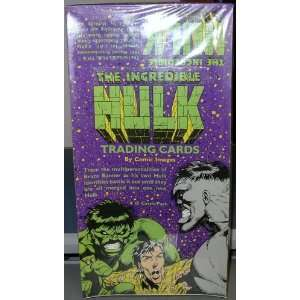 : THE INCREDIBLE HULK TRADING CARDS FACTORY SEALED BOX: Toys & Games