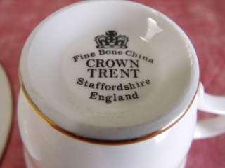 CROWN TRENT FINE BONE CHINA CUP AND SAUCER SET STAFFORDSHIRE ENGLAND