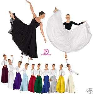 White Liturgical/Praise Dance 40 Skirt Plus #682B