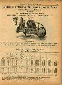 1940 Myers Bulldozer Power Pump Motor Self Oiling ad