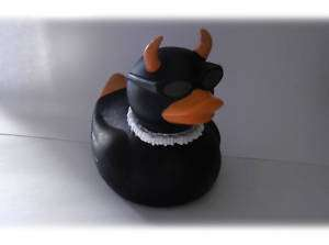 RARE   Axe Rubber Evil Devil Duck Ducky Duckie Toy  NEW