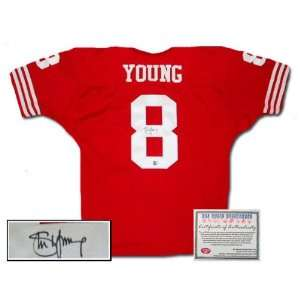 Steve Young Autographed Authentic Style San Francisco