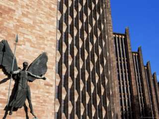 Epsteins Statue of St. Michael and the Devil, Coventry New Cathedral