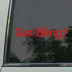 Got Bling? Red Decal Gold Diamonds Ice Window Red Sticker