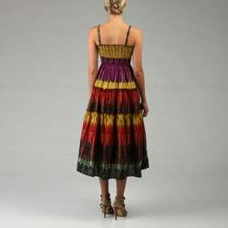 Magic Womens Tiered Printed Maxi Dress  Overstock