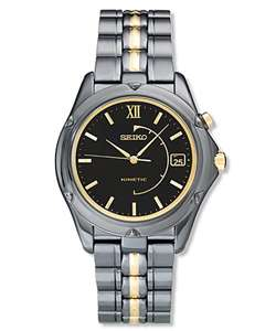 Seiko Kinetic Mens Two tone Stainless Steel Watch