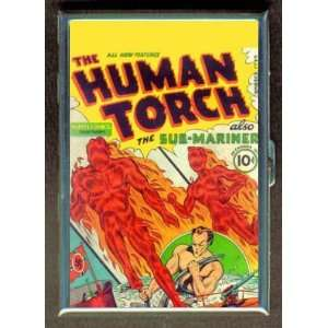 HUMAN TORCH SUB MARINER 40s COMIC BOOK CIGARETTE WALLET