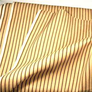 Jaconet Cotton Fabric Stripe Gold & Red, Skirts, Suiting, Totes, Home
