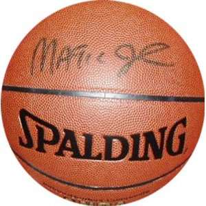 Magic Johnson Autographed Spalding Tack Soft NBA Basketball