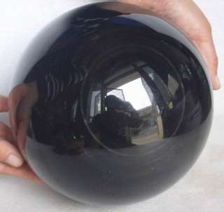 17.1LB Large Natural Obsidian Crystal Cat Eye Sphere Healing