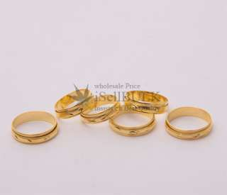 25PCS Awesome wholesale lot gold plated GP spinner rings Vintage