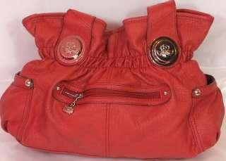 Kathy Van Zeeland Belt Shopper Handbag Red New