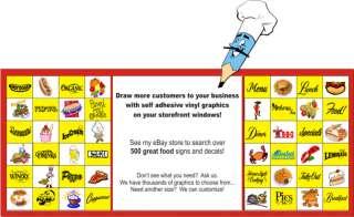 Ice Cream Concession Restaurant Food Sign Decal 12