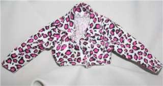 Fashion Avenue #15852 jean denim cheetah pink white jacket shirt 1996
