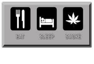 EAT SLEEP SMOKE POT T SHIRT Marijuana Weed Ganja Smoker