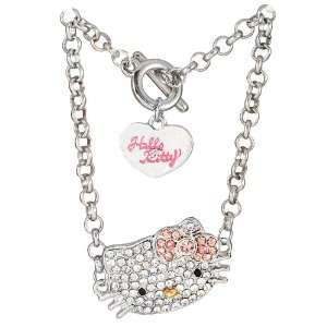 Hello Kitty rhinestone charm bracelet   pink bow Arts, Crafts