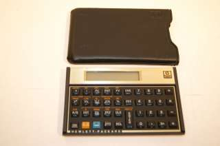 HP 12c Business/Scientific Calculator with case NICE 88698000120
