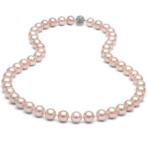 Bling Jewelry 14mm South Sea Shell Pink Pearl Bridal Necklace