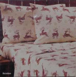 Flannel Twin Sheet Set~Christmas Reindeer~Winter~Holiday~Santas Deer