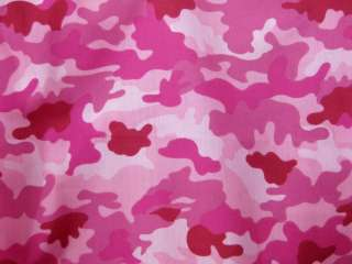 PINKS ARMY CAMOUFLAGE PRINTED COTTON FABRIC GR8 for Suit Costume Pants